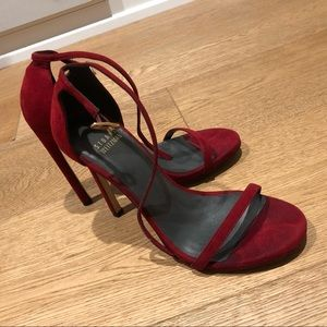Stuart Weitzman Nudist Red 6.5